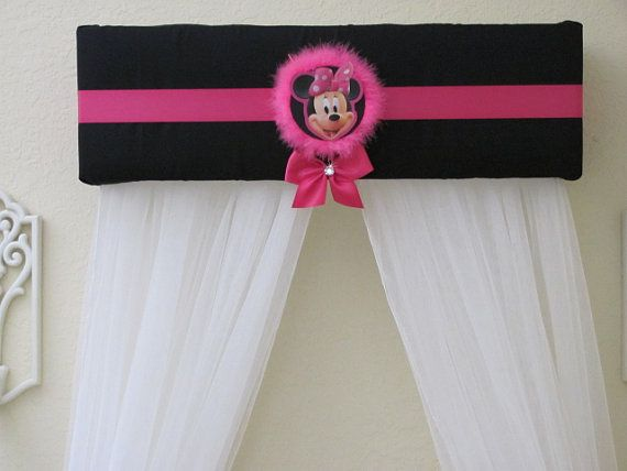 MINNIE MOUSE Bed Crown Canopy Princess Disney by SoZoeyBoutique & MINNIE MOUSE Bed Crown Canopy Princess Disney with Curtains ...