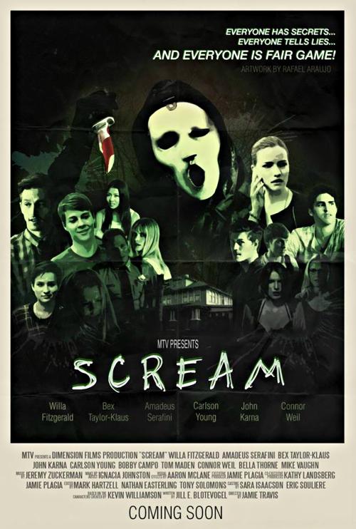 Mtv Scream Poster Made By Scream Brasil Trustmeitsgonnahurt Cartazes De Filmes Classicos Series E Filmes Carlson Young