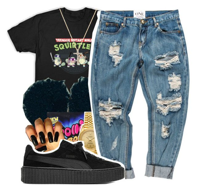 """""""Shoulda known⚡️ childish gambino"""" by maiyaxbabyyy ❤ liked on Polyvore featuring Rolex, Puma and Nephora"""