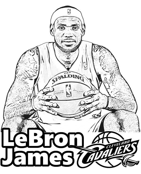 Lebron James Dunking Coloring Pages