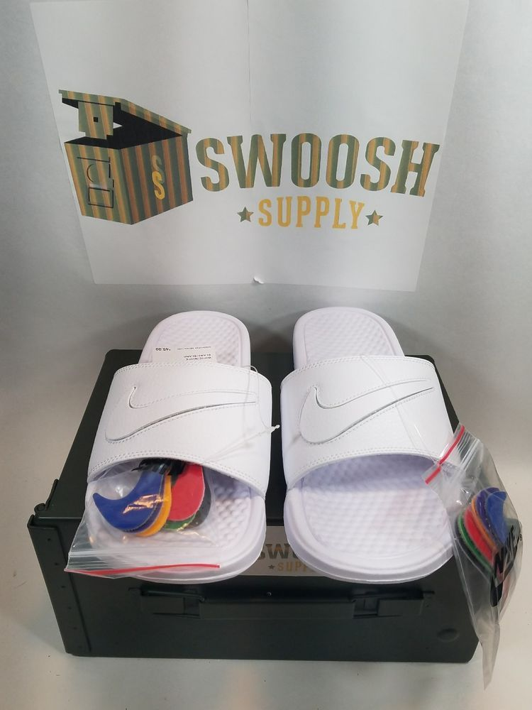 cce73e14930b Nike Benassi JDI LTD Limited Slide Sandal Removable Swoosh Size 8 AQ8614  100  Nike  Slides