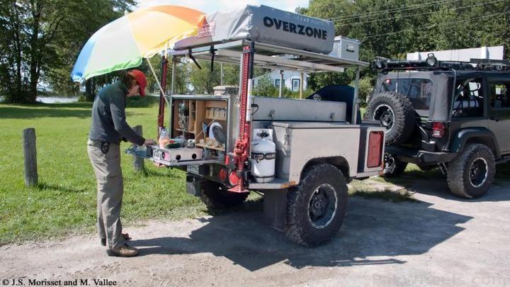 Jeep camp trailer