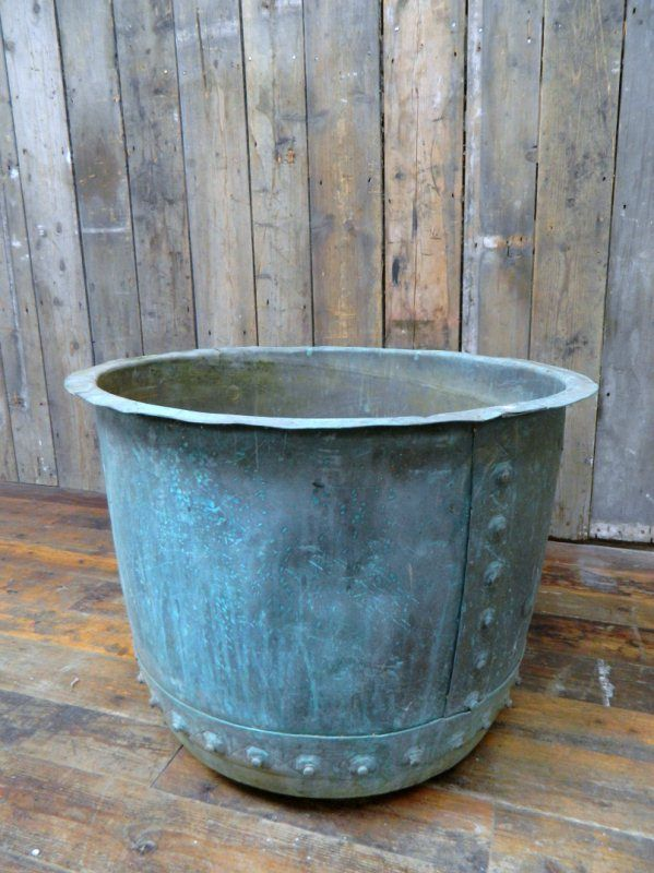 "Rivetted copper ""Copper"". English. 19th century. Great for container garden. (Drew Pritchard 8 Jan 2012)"