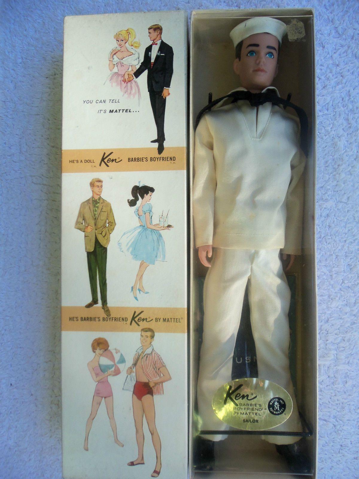 Vintage Ken 796 Dressed Doll Box 1962 Mattel Barbie Clothing Sailor ...