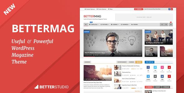 BetterMag – News, Blog, Magazine WordPress Theme | Wordpress ...