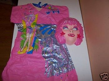 Jem Halloween costume -- I had this one (or at least this mask) and wore it for two Halloweens.