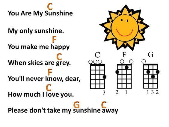 You Are My Sunshine Fun Ukulele Song Ukulele Resources