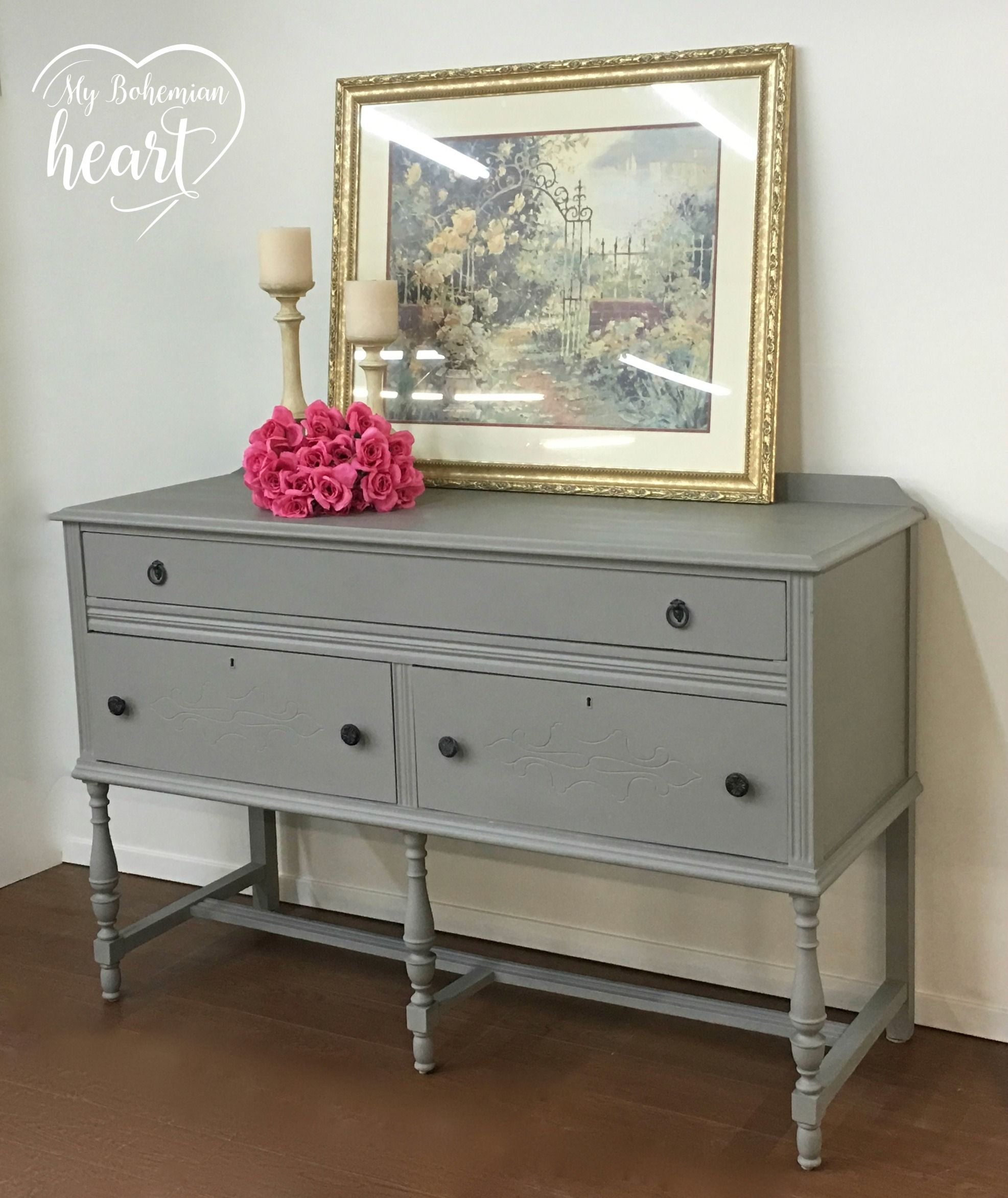 French Linen Annie Sloan Chalk Paint Clear Wax Gray Painted Furniture Shabby Chic Dresser Painted Furniture [ 2344 x 1973 Pixel ]
