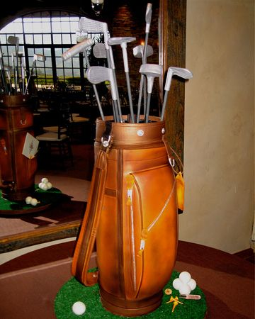 Groom's cake! Great idea if groom is a golfer and getting married on a golf course.