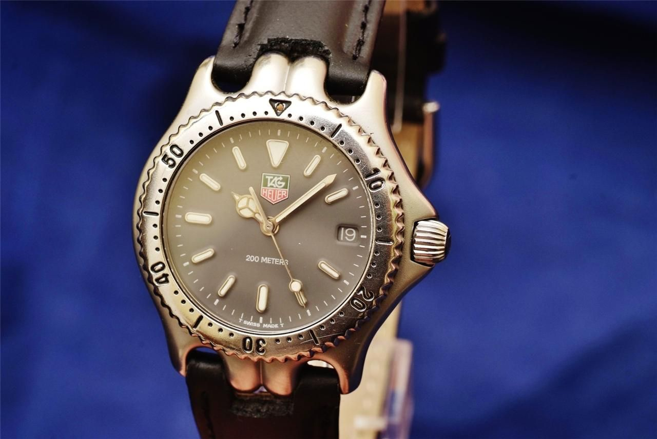 TAG Heuer SEL Professional 200m SS/Leather/Authentic Unisex Sports Diver Watch!!