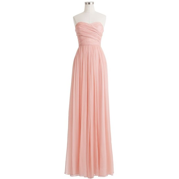J.Crew Arabelle long dress in silk chiffon for only $365 | Beauty ...