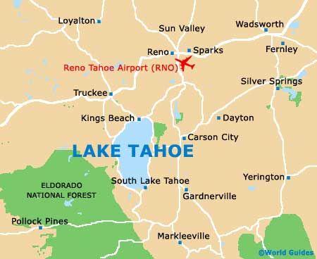 Lake Tahoe Area Maps Detailed Lake Tahoe Area Map By Region Bring - Lake tahoe on us map