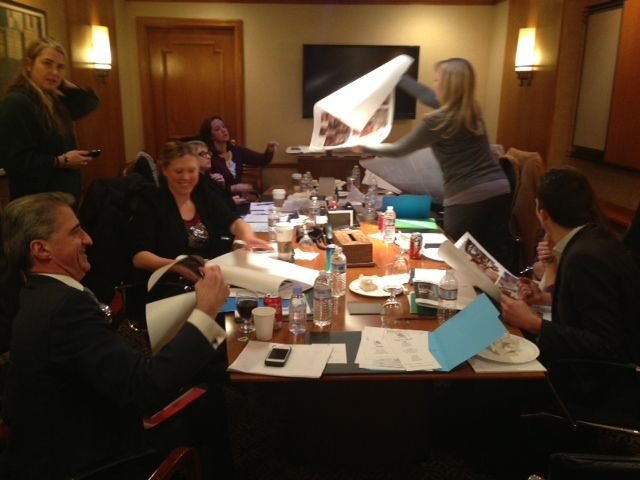 Staff of the Library Hotel Collection planning and scheming great things for 2013!