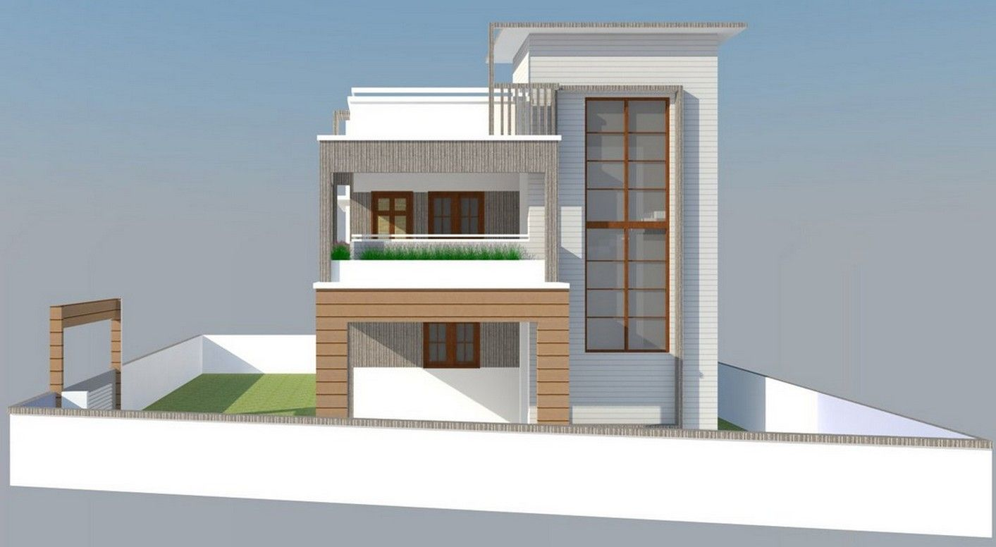 Home front elevation designs in 1413 776 for Home designs 12m frontage