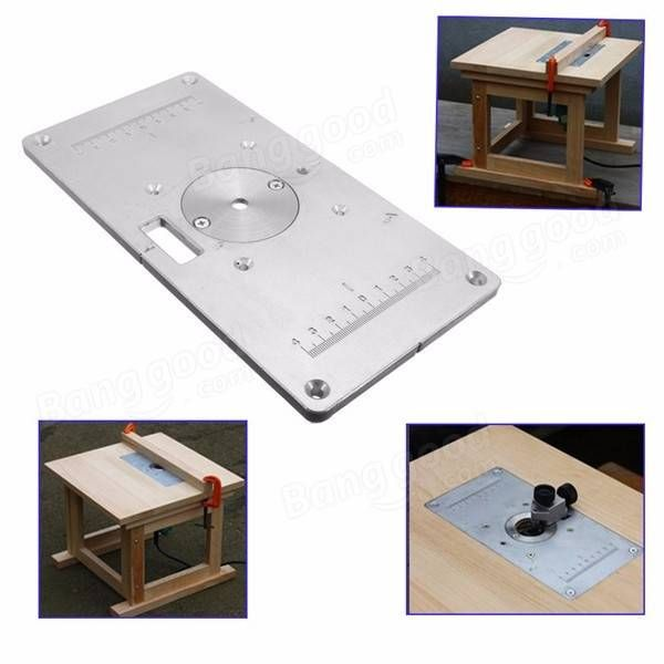 235mm x 120mm x 8mm aluminum router table insert plate for 235mm x 120mm x 8mm aluminum router table insert plate for woodworking sale banggood wood routerdiy greentooth Images