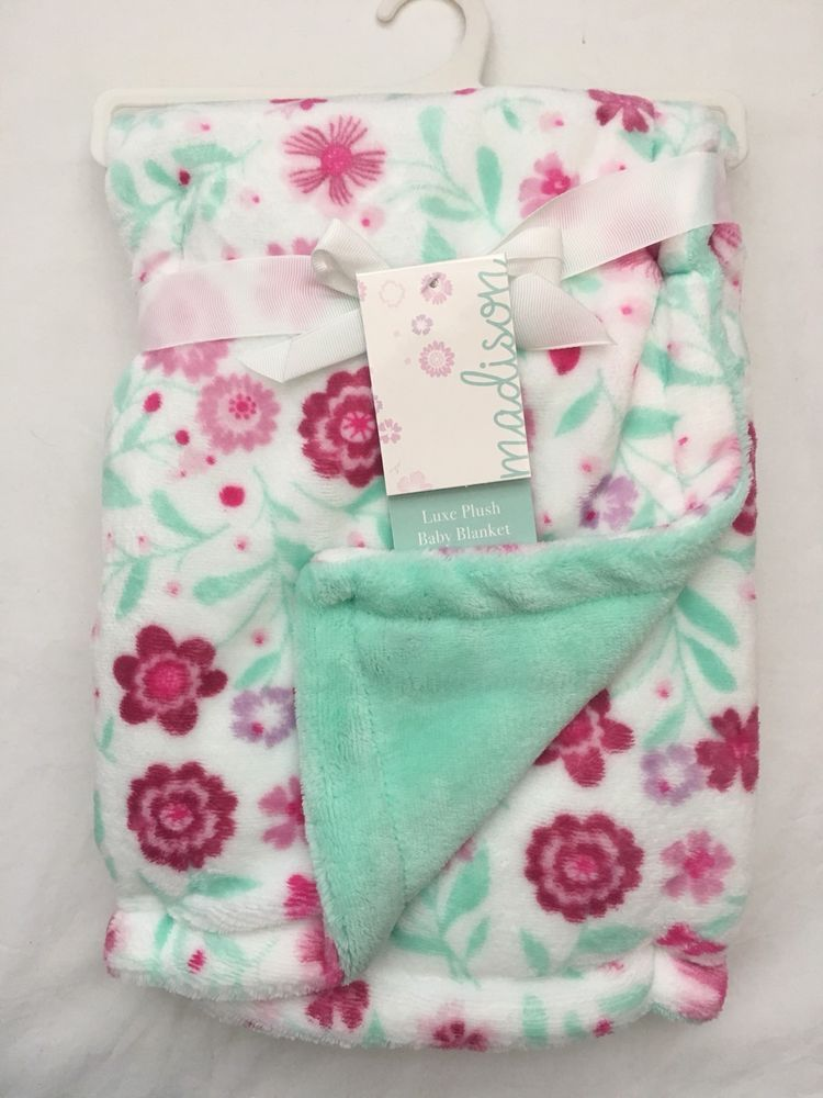 Baby Toddler Girl Boy Tag Blankets Plush Soft Crochet Tag Crib Blanket Swaddle