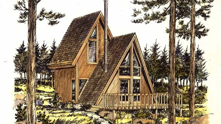 Cottage Style House Plan 1 Beds 1 Baths 535 Sq Ft Plan 320 409 A Frame House Plans A Frame Floor Plans Cottage Style House Plans
