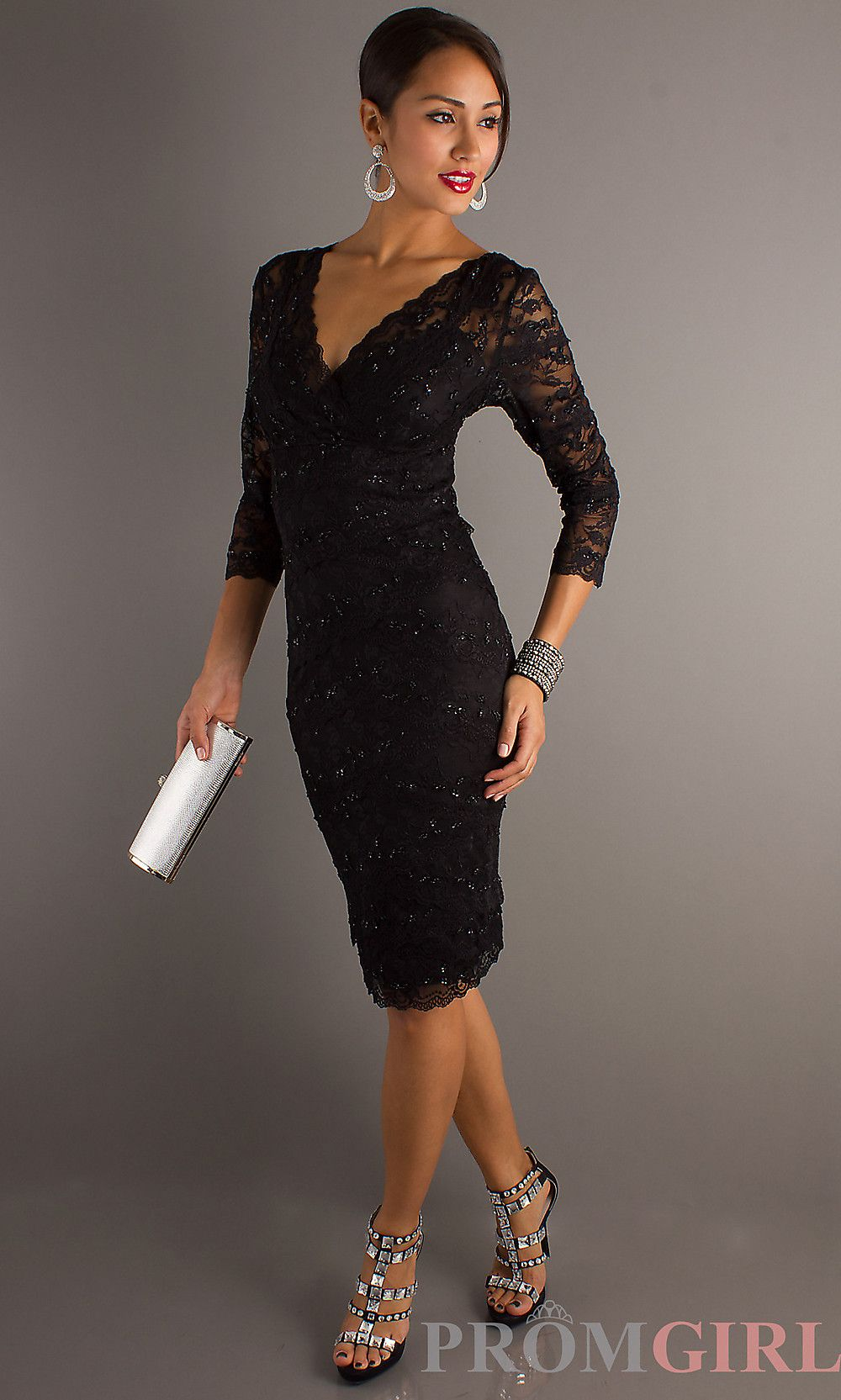 Black Lace Cocktail Dress perfect for hourglass figure :) | Fashion ...