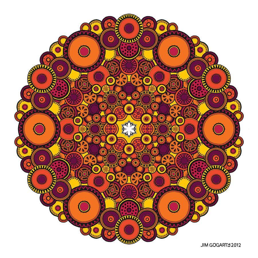 Mandala+Art | Mandala 37 Drawing Coloured V1 Drawing