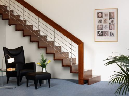 Stair Rail On Types Of Modern Stair Rails Comfree Blog | Types Of Wooden Stairs | Rustic Wooden | Storage | Separated | Staircase | Vertical Wood