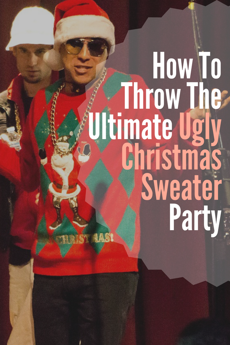 8d8db0c389 Throw an Epic Ugly Christmas Sweater Party! Some great ideas of how to  setup and throw an unforgettable Ugly Christmas Sweater Party.