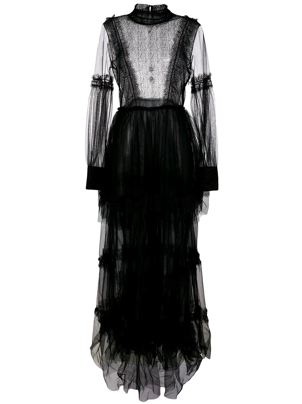 Wandering tiered laceembellished gown dresses pinterest