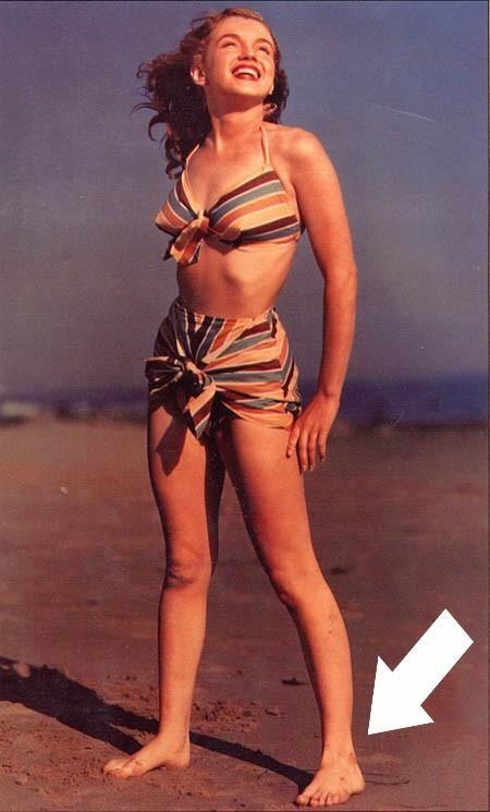 Los Seis Dedos De Marilin Monroe En El Pie Norma Jean Marilyn Monroe Swimsuit Marilyn