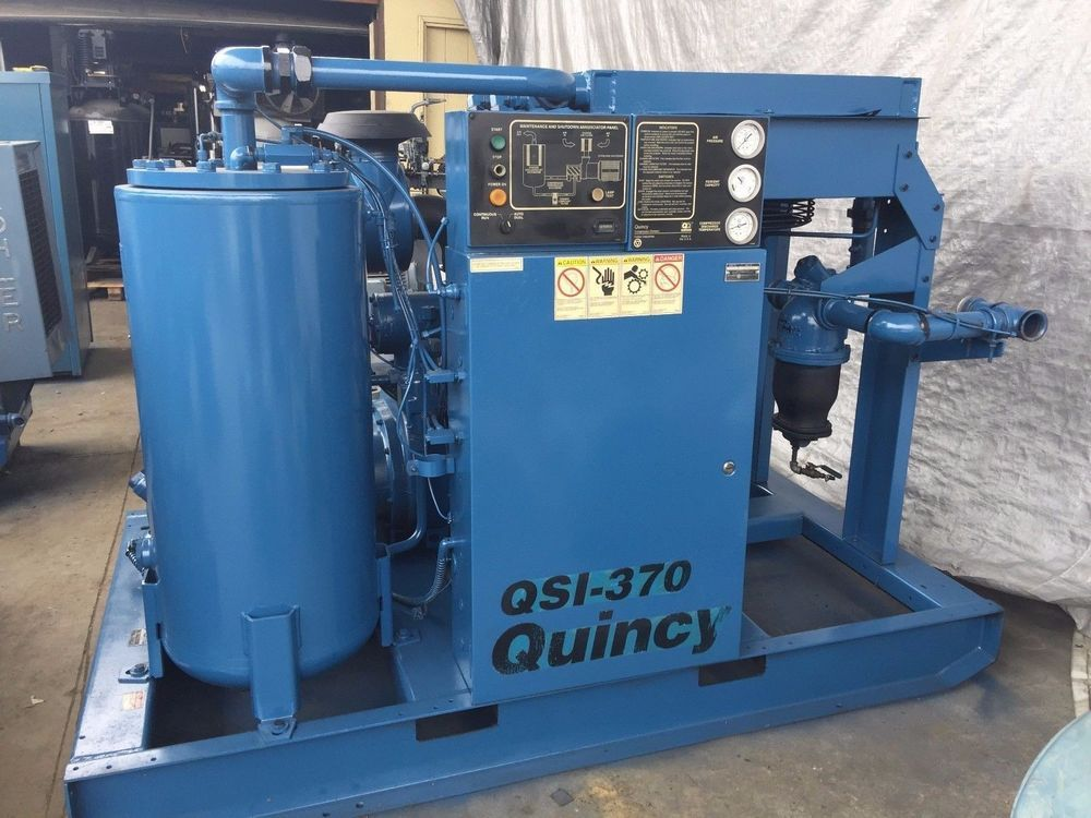 1996 QUINCY QSI 370 75 HP ROTARY SCREW AIR COMPRESSOR