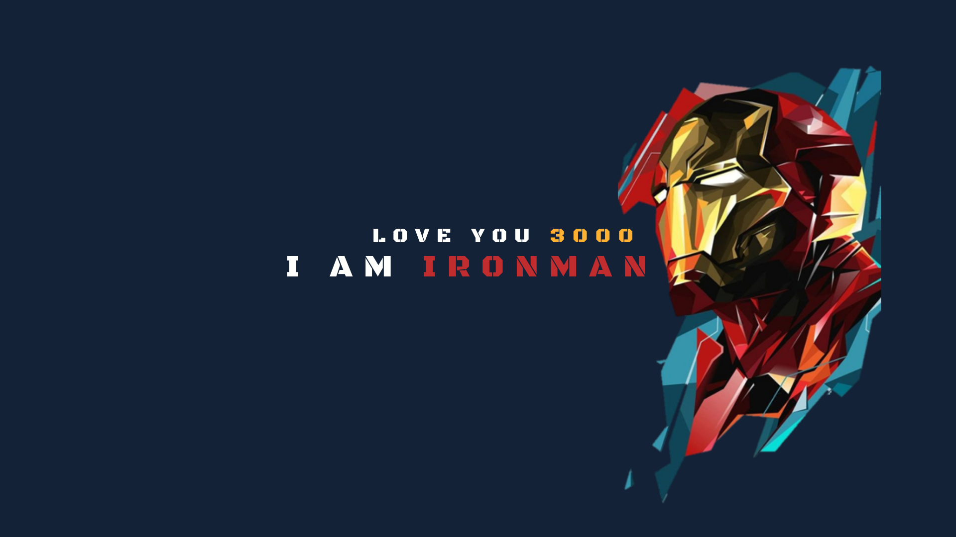 Love You 3000 1920 X 1080 Marvel Wallpaper Iron Man