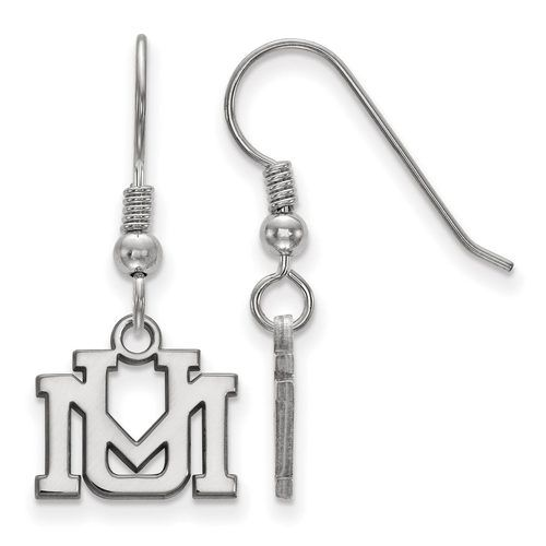 925 Sterling Silver Rhodium-plated Laser-cut University of Montana Small Pendant