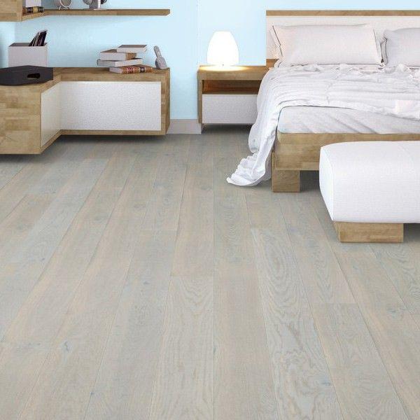 Glacier White Oak Brushed And Uv Oiled Engineered Flooring