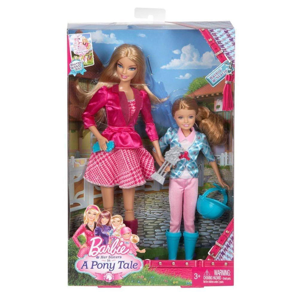 2-Pack Barbie and Her Sisters in a Pony Tale and Stacie Doll