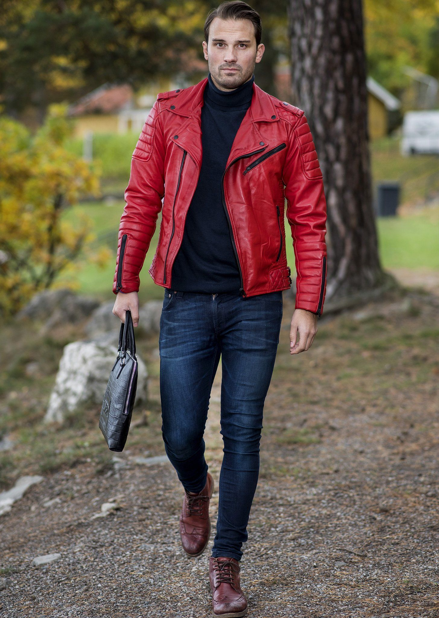 Mjack Red Leather Jacket Difficult By P Leather Jacket Outfit Men Leather Jacket Leather Jacket Men [ 2048 x 1455 Pixel ]