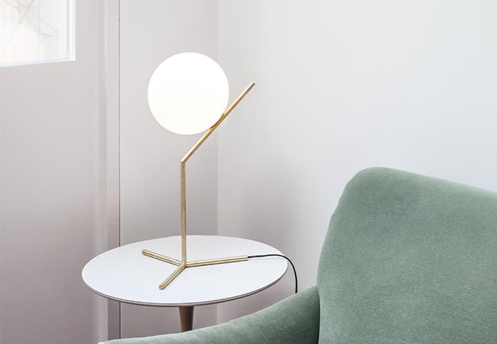 Ic lights table high table in living room flos