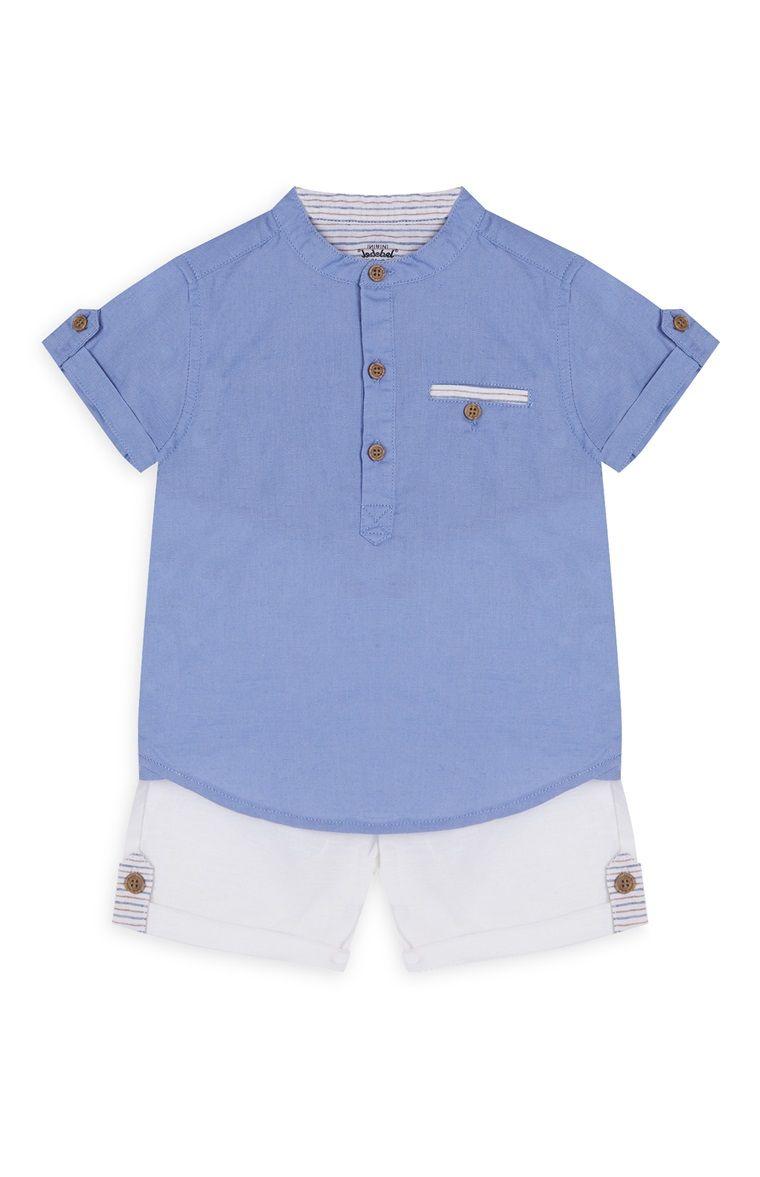 78cd76985c0a8 Pyjama short et chemise bébé garçon