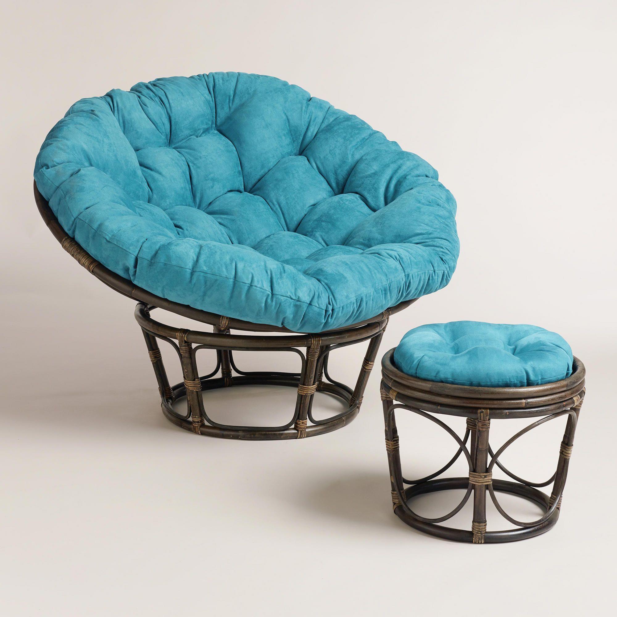 Papasan Chair Stool Cushions Cheap Computer Desk Chairs Porcelain Micro Suede Cushion World Market Boho