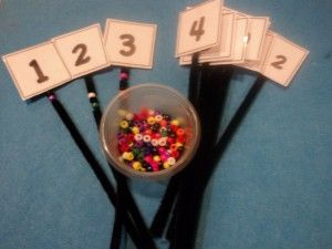 learning numbers by using pipe cleaners...creative