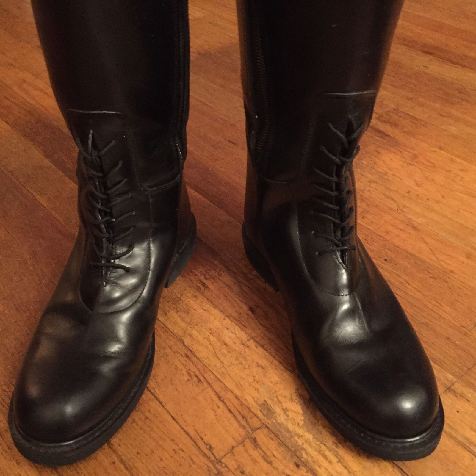 nib brinkerhoff police motorcycle chp leather buckle riding boots