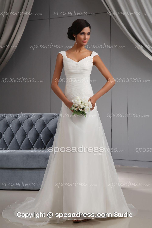 Simple Empire Strapless Ruched Chiffon Wedding Dress No Lace Beach Wedding Dress Boho Bridal Dresses Informal Wedding Dresses