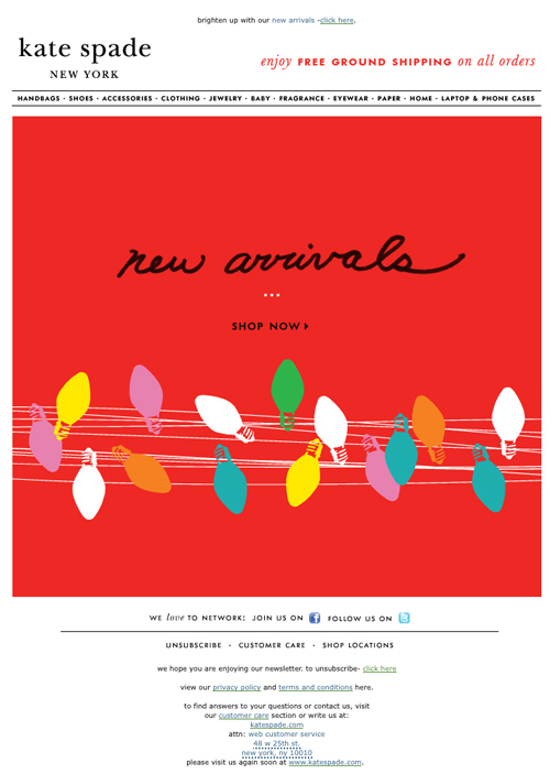 Kate Spade Christmas Cards 2019.Pin By Lisa Mosow On Eblasts Email Design Email Layout