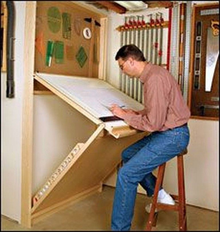 45 Good Folding Wall Table Ideas For Space Saving With Images Woodworking Shop Projects Folding Walls Space Saving Table