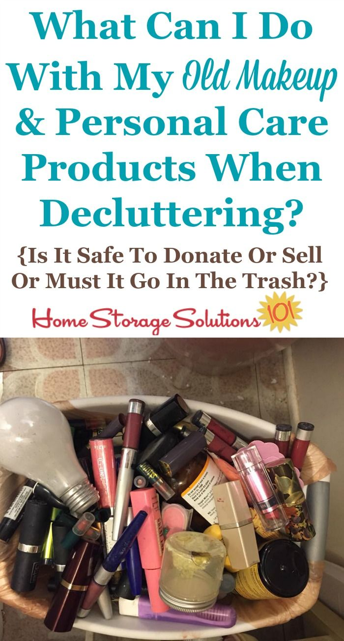 How To Get Rid Of Makeup Cosmetics Toiletries Clutter Declutter Bathroom Storage Solutions Getting Rid Of Clutter