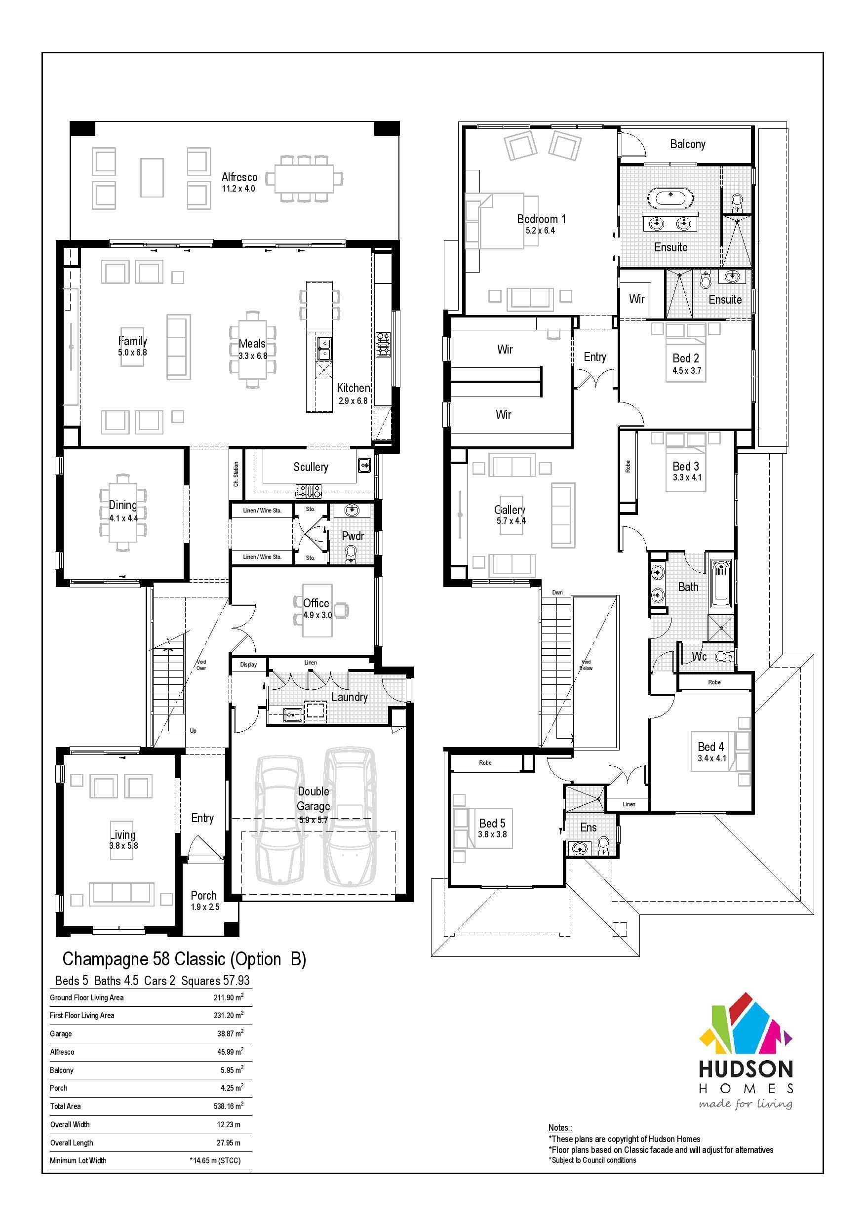 Champagne 58 By Hudson Homes From 633 500 Floorplans Facades Display Homes And More Ibuildne Family House Plans Home Design Floor Plans My House Plans