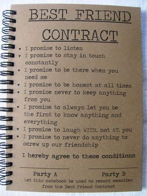 Best friend contract 5 x 7 journal by journalingjane on etsy best friend contract 5 x 7 journal by journalingjane on etsy thecheapjerseys Choice Image