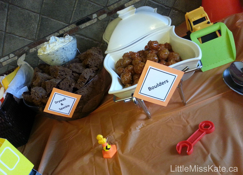 Constructionbirthday Party Food Ideas