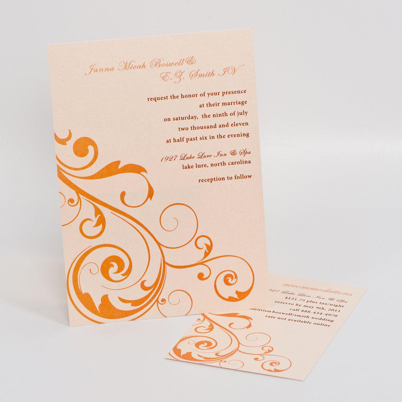 Flourish Wedding Invitation www.dginvites.com | Wedding ...
