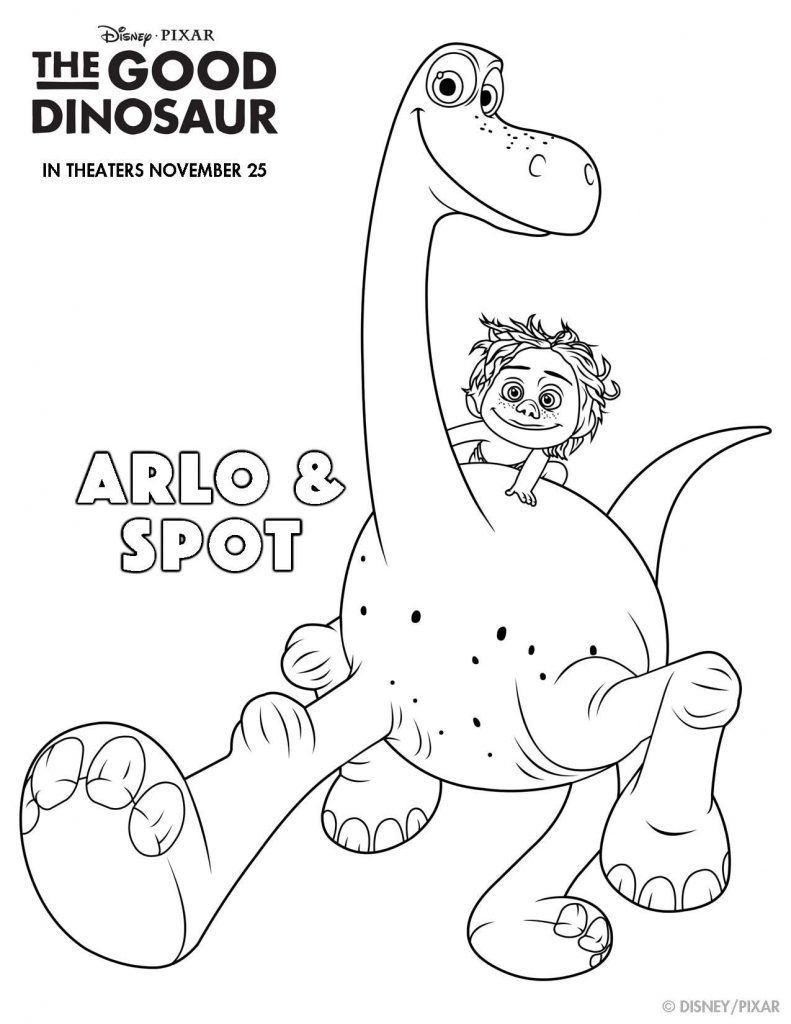The Good Dinosaur Coloring Pages: Arlo and Spot   Bday   Pinterest