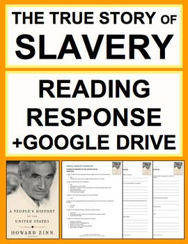 Slavery Nonfiction Reading Response Text Questions, Answer Key +