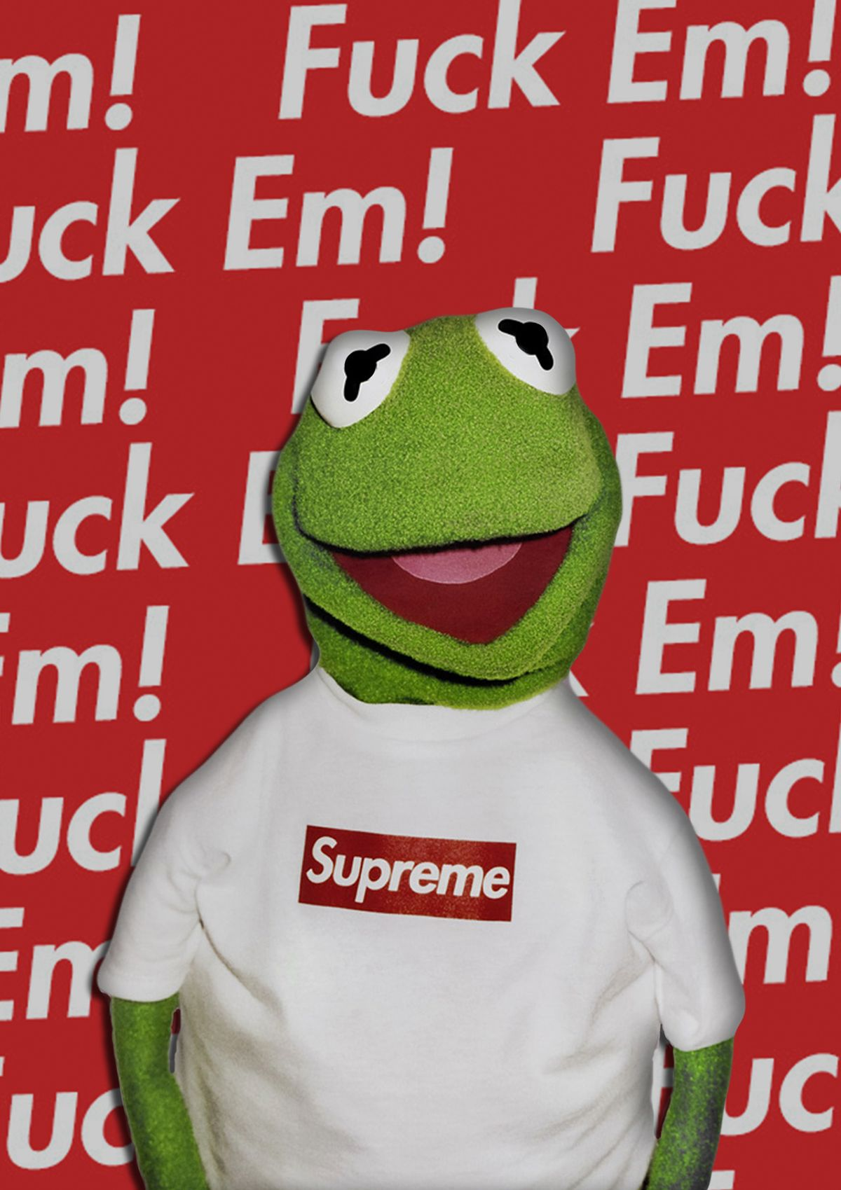 Supreme X Kermit Poster Design 2016