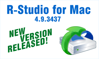 We released a new version of R-Studio for Mac, our flagship data recovery program. It now has all features and improvements of its Windows counterpart: improved emergency startup for Mac computers, an advanced algorithm for raw file recovery (search for file signatures), and support for Directory Junctions and Symbolic Links. Plus a lot of bugfixes. http://forum.r-tt.com/r-studio-for-mac-4-9-3437-t8960.html